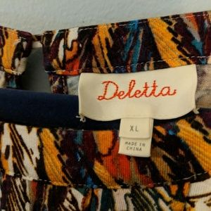 Anthropologie Tops - Deletta/Anthro - Corbara Peplum feather top - XL
